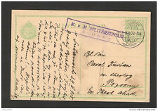 WWI-HUNGARY-GERMANY-AUSTRIA-ÖSTERREICH-TRAVELED POSTCARD-MILITARY CENSURE-1915.