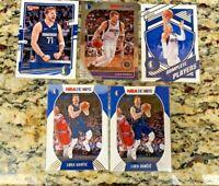 2020-21 Luka Doncic LOT of 5 - Donruss, NBA Hoops + 2019 Hoops Premium