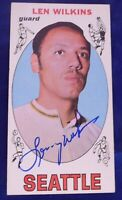 LENNY WILKENS HOF signed autograph 1969-70 Topps Seattle Supersonics