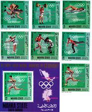Aden Mahra 1968 Winter Olympic, Grenoble 1968, MNH, perf. ovp., South Arabia #5