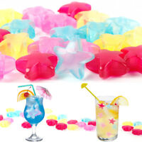 20Pcs Star Reusable Plastic Ice Cubes Multicolour Cooling Drinks Bar Party Tool