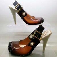 Vivienne Westwood Anglomania Melissa Animal Toe Mule Heels Clear Brown New