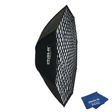 """Phot-R 60"""" Octagon Umbrella Flash Softbox Bowens Honeycomb Grid Microfibre Cloth"""