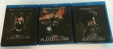 Blu-Ray The Girl with the Dragon Tattoo Trilogy (not box set version)