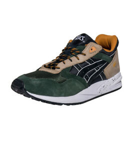 Asics Men's GEL-Saga Shoes NEW AUTHENTIC Black/Green H5T4N-9090 SZ: 7.5