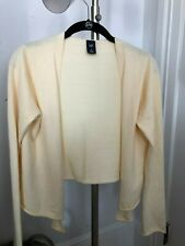 GAP Size M COTTON ANGORA Ivory Cardigan Sweater Open Front