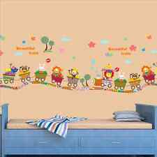 Jungle Safari Animals Removable Baby Kids Train Wall Sticker Decal Nursery Decor