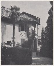 D3372 Cancello e giardino di Casa Ranci - Stampa d'epoca - 1940 vintage print