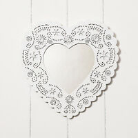 SHABBY CHIC WOODEN WHITE HEART MIRROR DECORATIVE WALL HANGING