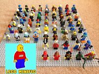 JOB LOT of 5 GENUINE LEGO RANDOM MINIFIGURES + 10 accessories bundle