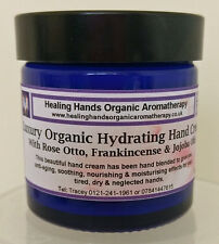 Luxury Organic Rose Otto & Frankincense Aloe Vera Enriched Hand Cream -60ml