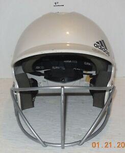 Adidas White Batters Helmet URS-600 + Face Mask 56 - 60 CM Softball Baseball