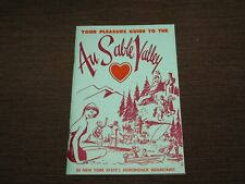 VINTAGE AU SABLE VALLEY NY STATE UPPER JAY ADIRONDACK MTNS GUIDE BOOKLET