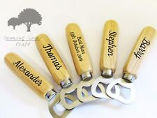 Personalised Engraved Wooden Bottle Opener Groomsman or Stag gift wbo3