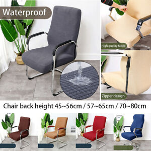 Stretch Swivel Chair Cover Zipper Slipcover Seat Cover Cushion Dust Cover Decor