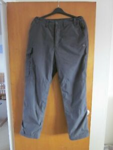 Mens Craghoppers SolarDry Thermal Lined Trousers, Grey, W32 Regular L30