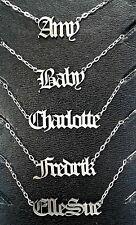 Personalised Name Necklace Bracelet Antique Gothic Old English Biker Medieval