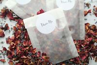 Biodegradable Wedding Confetti Dried Red Rose Petal and Lavender 50 Filled bags