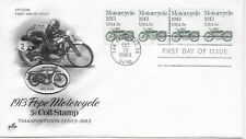 US Scott #1899, First Day Cover 10/10/83 San Francisco Plate #1 Coil Motorcycle