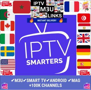IP*TV smart pro✔️12 mois✔️M3U✔️SMART TV✔️MAG✔️ANDROID&PC&MAC✔️