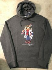 "NWT-POLO RALPH LAUREN ""Ski Polo Bear"" SPECIAL EDITION Grey Pullover Hoodie- 1XB"