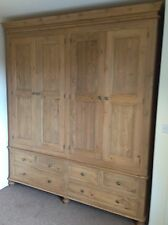 Waxed 4 Door Victorian Style Wardrobe
