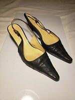 "Giuseppe Zanotti Sz 36 - 5.5 Sling Back 2"" Ostrich Heels Pumps Shoes Beautiful"
