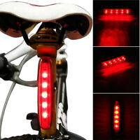 High Power 5 LED 3 Mode Cycling Bicycle Tail Light Bike Caution Safety Rear Lamp