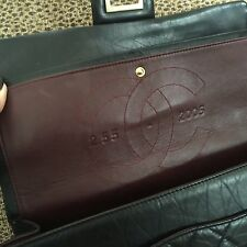 Chanel Authentic 2.55 Large Flap Bag/ Aged Calfskin W/ Gold Metal Chain