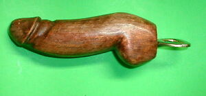 """Penis Bottle opener wood 7-9"""" bachelorette party favor with a nice set of BALLS"""