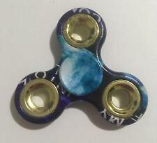 Tri Fidget Spinner Plastic Handheld Toy (blue + words)