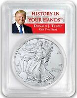 2018 1oz Silver Eagle PCGS MS69  - Donald Trump Label