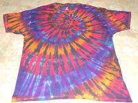 2X 3X 4X 5X 6X Mens Unisex Tie dye dyed hippie Heavy Cotton tshirt Short Sleeve