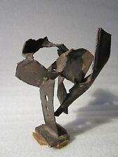 Gorgeous 1960's Abstract Metal Sculpture Signed R.B.Y.