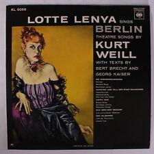 LOTTE LENYA: Sings Berlin Theatre Songs By Kurt Weill LP (Israel, Mono, laminat