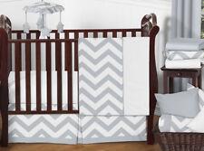 A Bumperless Unisex Gray White Chevron Zig Zag Baby Crib Bedding Set Boy Or Girl