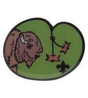 BOY SCOUT OFFICIAL LICENSED WOOD BADGE BUFFALO COLLECTORS TRADING PIN BSA OA NEW