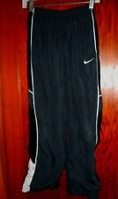 Nike Boys Black Lined Warm Up Pants With Pockets Ankle Zippers Large (12)
