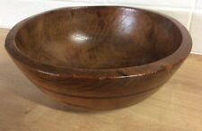 antique elm dairy bowl
