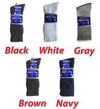 3, 6, or 12 Pairs Men's Diabetic CREW circulatory Socks Health FREE SHIPPING