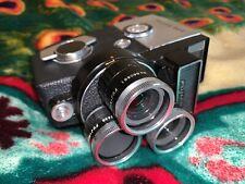 Fujica 8EE 8mm Movie Camera 3 Lenses with Handle & Box Japan