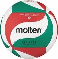 Molten Volleyball DVV 2 Wettspielball Weiß/Grün/Rot V5M4500 Gr. 5 Synthetikleder