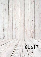 Rustic Wood Wall Photography Backdrop Polyester Photo Background Washable 6X9FT