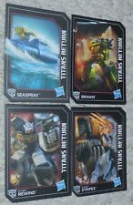 Transformers Titans Return 4 Card Lot Generations REWIND STRIPES BRAWN SEASPRAY