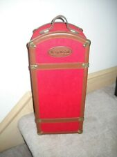 """Tonner Betsy McCall Doll Trunk Red Brown Leather 16"""""""
