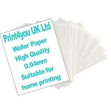 HIGH QUALITY 0.4mm! 25 sheets rice wafer edible paper for home printing