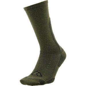 1 Pair Alpine Design Men's Merino Wool Crew Socks MADE IN USA Green Men 9-12