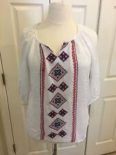 Beautiful Embroidered Boho Blouse - Size: Medium  - NWT