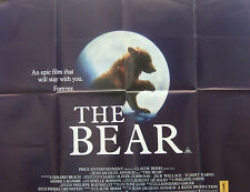 Jean Jaques Arnauds  THE BEAR(1989) Original UK quad cinema poster
