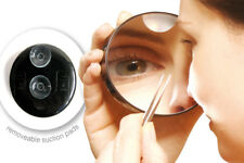 10x Magnifying Vanity Compact Travel Make-Up Mirror With Light